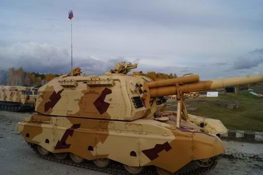 "Модернизированная 152-мм самоходная гаубица  ""Мста-С "" 2С19М2."