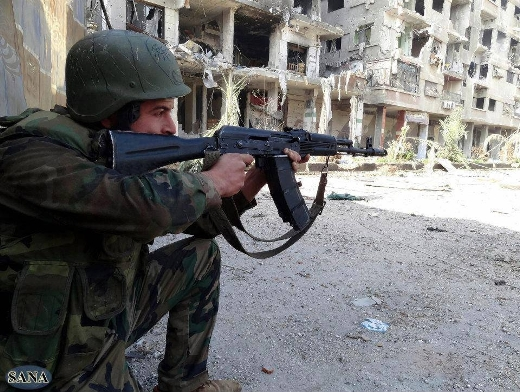 Syrian troops battle-test latest Kalashnikovs