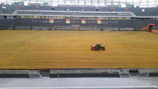 Настадионе «Мордовия-Арена» начался засев футбольного поля