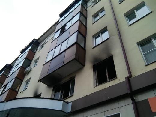 ВСаранске загорелась квартира в5-этажном доме, два человека пострадали