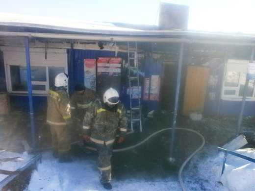 ВКочкурово из-за перегрузки электросети зажегся магазин